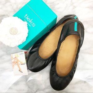 Tieks matte Black leather ballet flats size 10